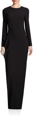 Black Halo Solid Ruffled Gown $575 thestylecure.com