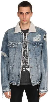 Eddie Sherpa Destroyed Denim Jacket