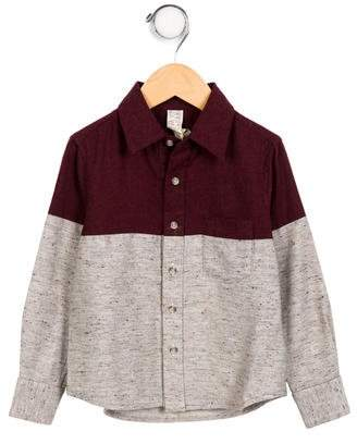 Tia Cibani Boys' Two-Tone Button-Up Shirt w/ Tags