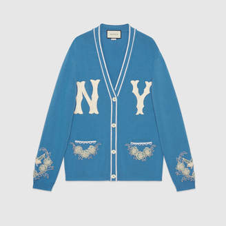 Gucci Wool cardigan with NY Yankees patch