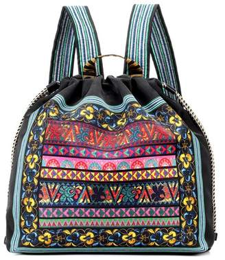 Etro Embroidered pattern backpack