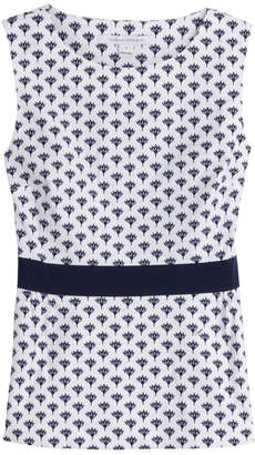 Diane von Furstenberg Stretch Cotton Printed Sleeveless Top