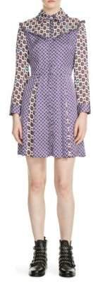 Maje Reed Print Dress