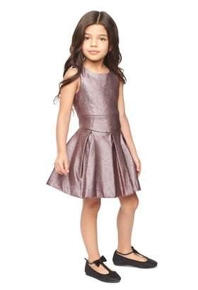 Milly Minis Stretch Lurex Scoop Neck Dress