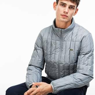 Lacoste Men's Lightweight Built-in Hood Quilted Down Packable Jacket