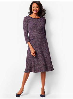 Talbots Twisted Boucle Fit & Flare Dress