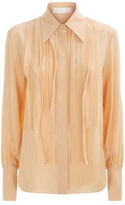 Chloé Silk Pleated Shirt