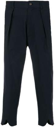 Societe Anonyme v cuffed cropped pinstripe trousers