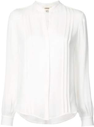 L'Agence v-neck ribbed shirt a