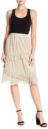June & Hudson Tiered Ruffle Shimmer Skirt