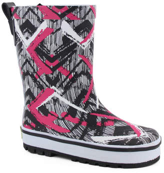 Western Chief Youth Toddler, Little Girl and Big Girl Tribal Idol Rain Boot