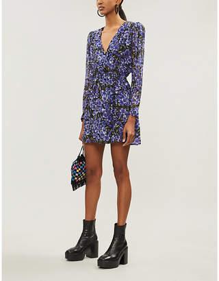The Kooples Floral-print silk-georgette dress
