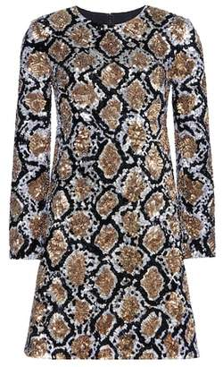 Saint Laurent Sequin-embellished silk dress