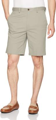 Haggar Men's Stretch Chino Plain Front Walk Short