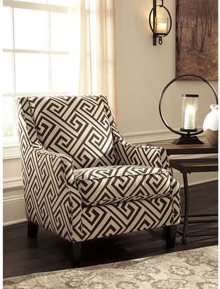 Signature Design by Ashley Carlinworth Greek-Key Accent Chair