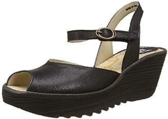 Fly London Women's Yora830Fly Open Toe Sandals, (Black/Graphite), 38 EU