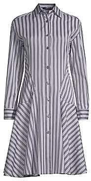 Derek Lam Women's Striped Cotton Shirtdress