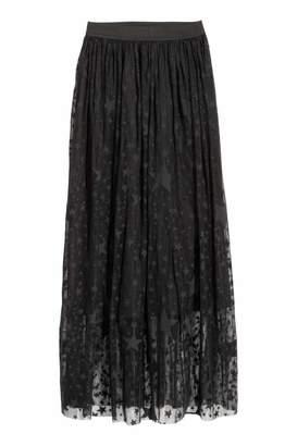H&M Long Mesh Skirt