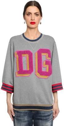Dolce & Gabbana Terrycloth Patches Cotton Sweatshirt