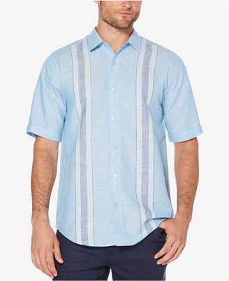 Cubavera Men's Big & Tall Linen Blend Yarn-Dyed Stripe Shirt