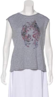 Alexander McQueen Printed Sleeveless Top