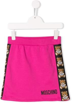 Moschino Kids side stripe skirt