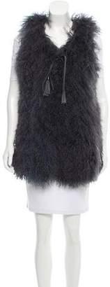 Fur Shearling V-Neck Vest