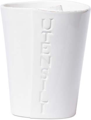Vietri Lastra Collection White Utensil Holder