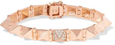Anita KoAnita Ko - Spike 18-karat Rose Gold Diamond Bracelet - one size