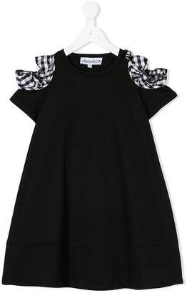 Simonetta gingham bow casual dress