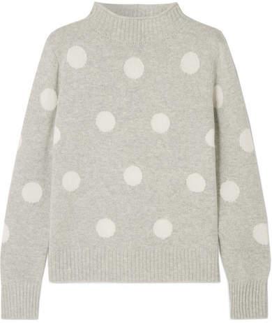 J.Crew - Polka-dot Wool-blend Sweater - Dark gray