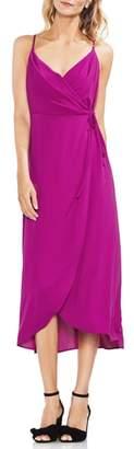 Vince Camuto Soft Texture Faux Wrap Midi Dress