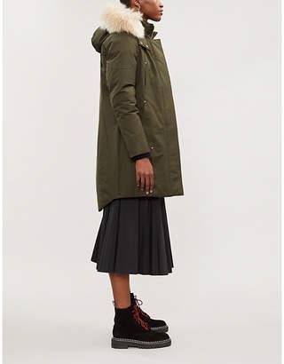 Moose Knuckles Stirling shearling-trimmed cotton-blend parka jacket