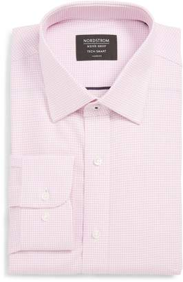Nordstrom Tech-Smart Classic Fit Stretch Check Dress Shirt