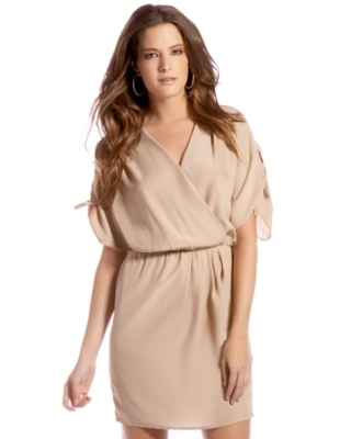 Amanda Uprichard Mock-Wrap Body Dress