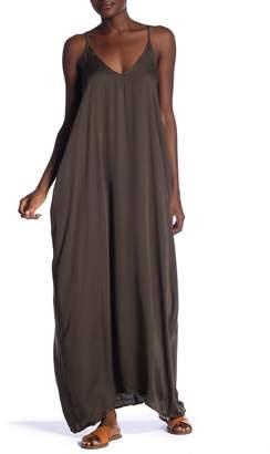 Love Stitch Challis V-Neck Maxi Dress