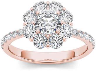 MODERN BRIDE 1 3/4 CT. T.W. Diamond 14K Rose Gold Engagement Ring