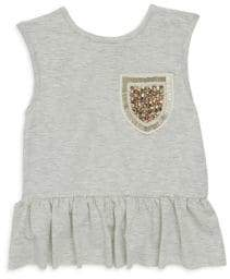 Imoga Toddler's, Little Girl's& Girl's Sparkle Pocket Ruffle Dress