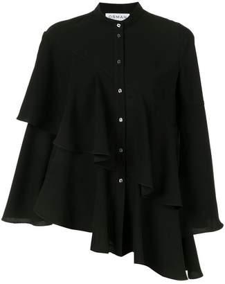 Osman Sunny asymmetric tiered blouse