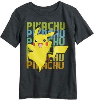 10a795804 Pokemon Boys 4-12 Jumping Beans Pikachu Graphic Tee