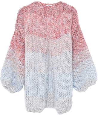 Maiami Mohair Big Cardigan in Soft Multicolor