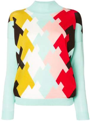 DELPOZO intarsia turtleneck sweater