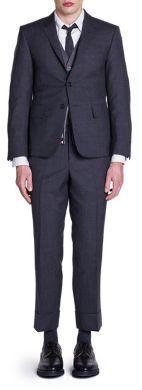 Thom Browne Super 120s Plain Weave Suit $2,500 thestylecure.com