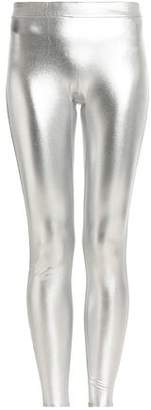 Halston Metallic Stretch Leggings