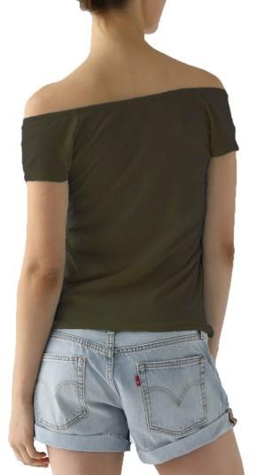 Women's Lamade Imelda Tissue Jersey Off The Shoulder Tee 5