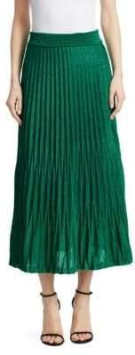 Maje Jupette Pleated Midi Skirt