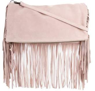Samuji Fringe-Trimmed Suede Shoulder Bag