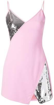 David Koma sequin panels mini dress