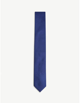 HUGO Textured silk tie