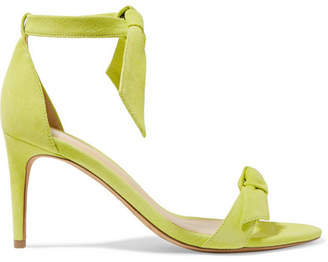 Alexandre Birman Clarita Bow-embellished Suede Sandals - Lime green